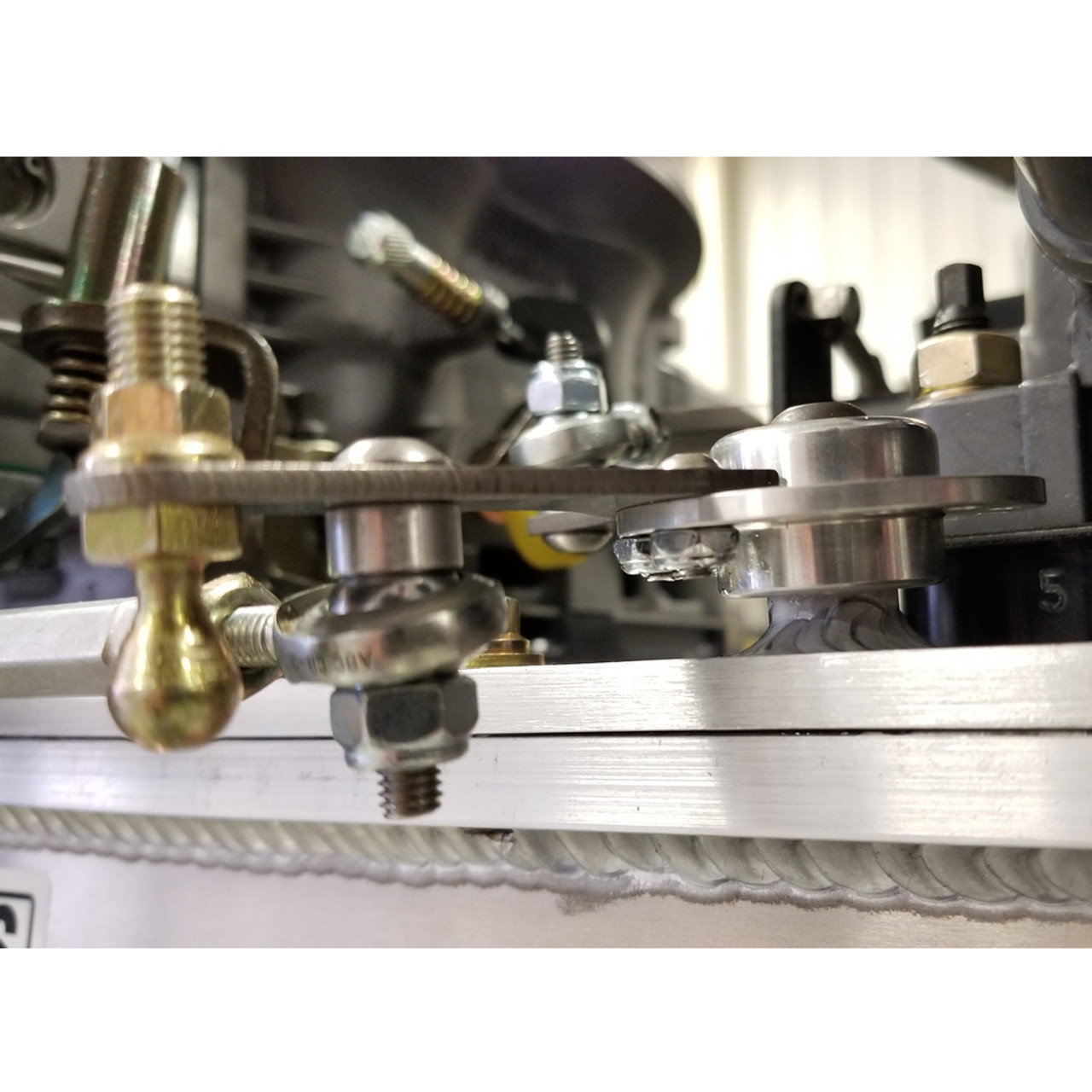 small resolution of  dual bell crank throttle linkage kit installed
