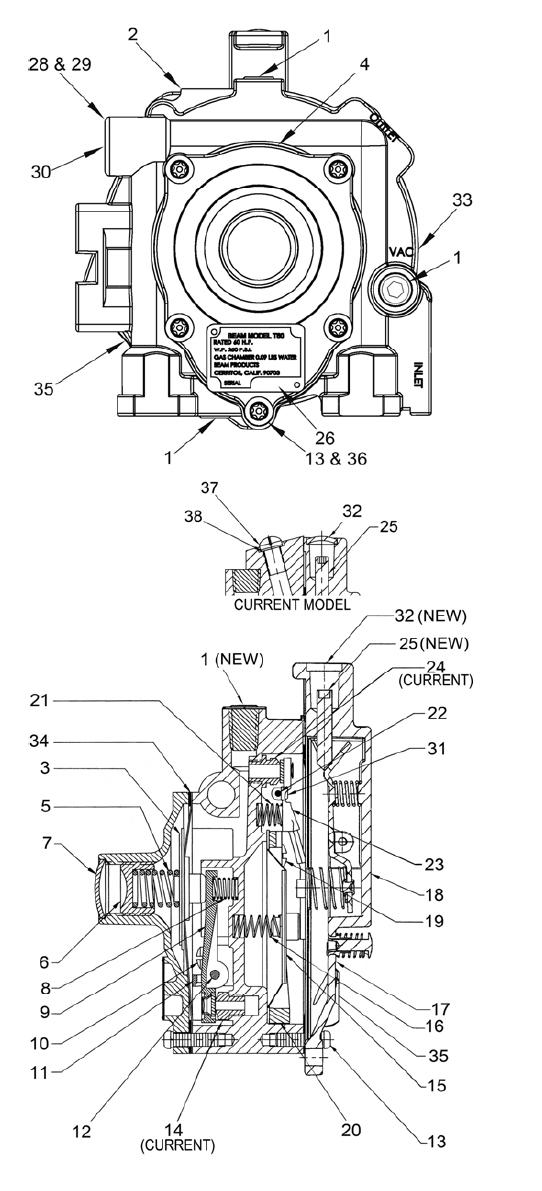 IMPCO Beam Model T60 60 HP Reducer, Evaporator