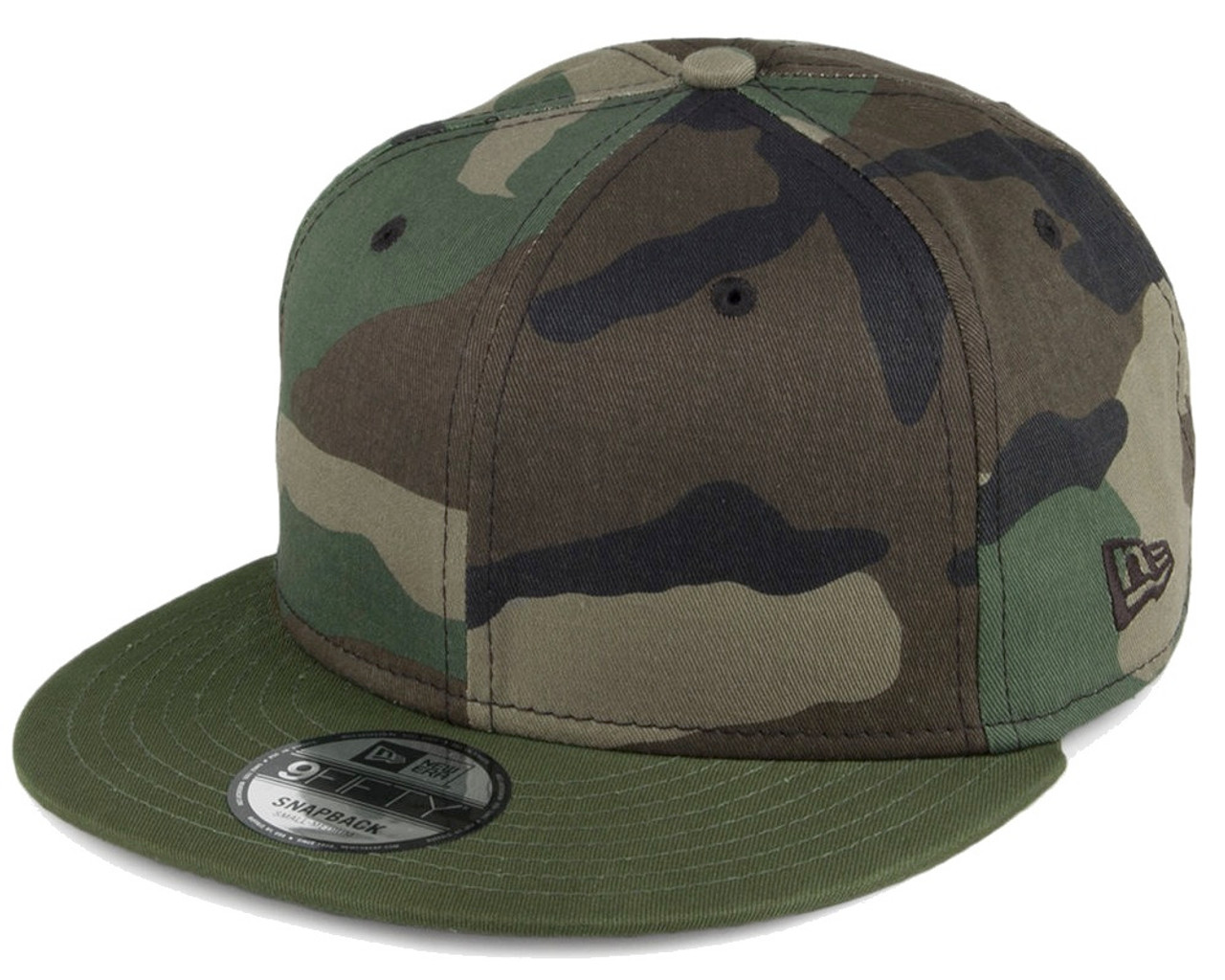 Plain Blank Camo Era 9fifty Snapback Hat