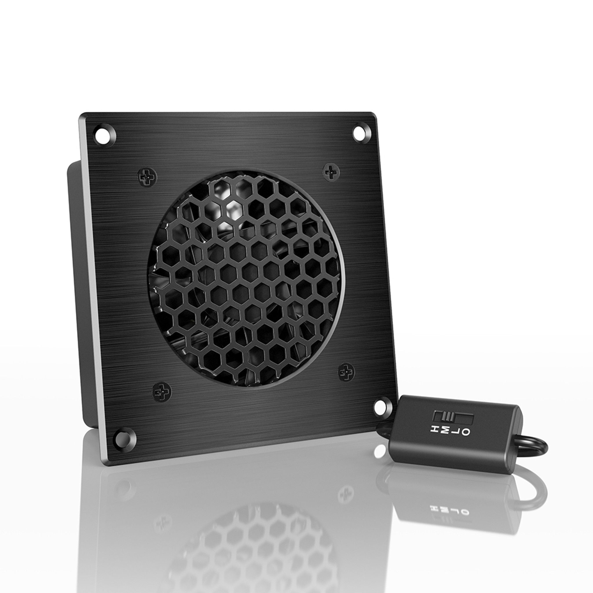 AIRPLATE S1 Home Theater and AV Quiet Cabinet Cooling Fan