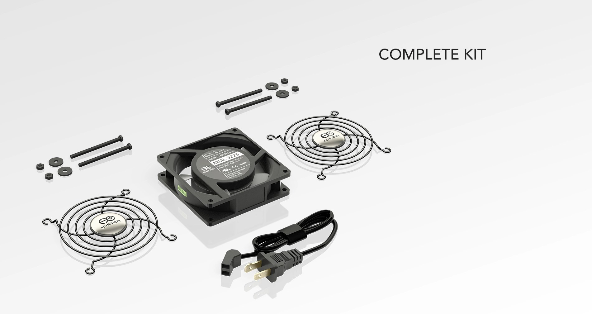 hight resolution of component cooling axial ac fan kits ac infinity wiring ac fans in series