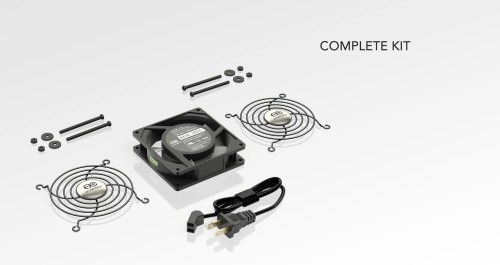 small resolution of component cooling axial ac fan kits ac infinity wiring ac fans in series