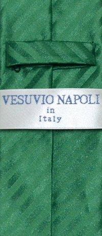 Vesuvio Napoli NeckTie Emerald Green Vertical Stripes ...