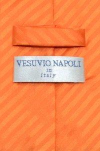 Vesuvio Napoli NeckTie Orange Stripe Vertical Stripe Mens ...