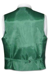 Mens Dress Vest NeckTie Emerald Green Vertical Stripe Neck ...