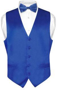 Biagio Mens Silk Dress Vest & Bow Tie Solid Gold Color ...