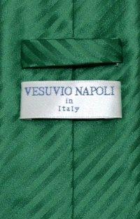 Vesuvio Napoli NeckTie Emerald Green Vertical Stripe Mens ...
