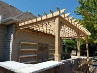 Attached Pergola Kits | Wester Red Cedar | Any and all sizes