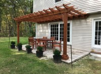 Cedar Pergola Kits | Wall Mounted - Attached to Home ...