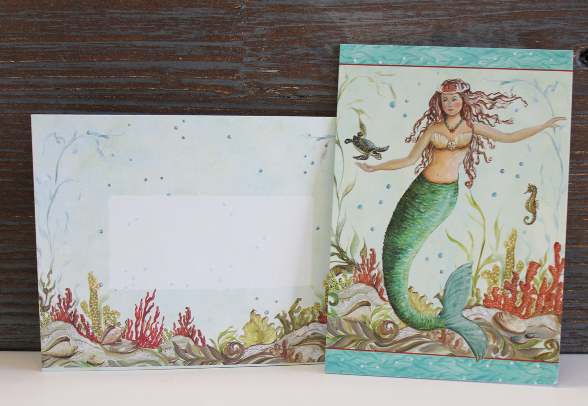 Mermaid Hideaway Note Cards - Cape Shore Stationery