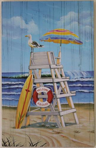 Lifeguard Chair Printed Wood Sign Beach Amp Nautical Wall