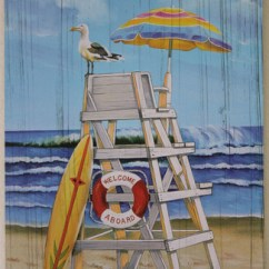 Ball Chair For Sale Swivel Casters Lifeguard Printed Wood Sign - Beach & Nautical Wall Decor California Seashell Company