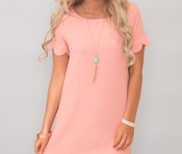 Romantic Revival Dress Peach