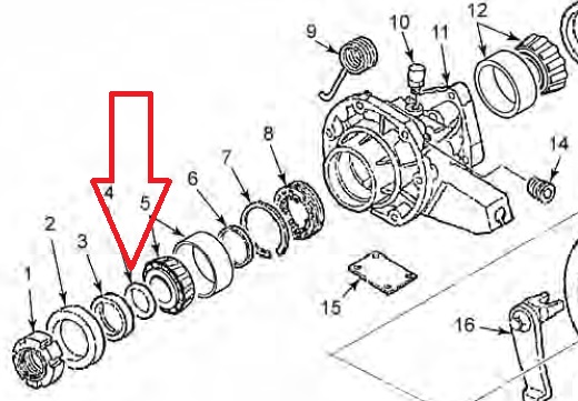 ZF S5-42 S5-47 S5-47M TRANSMISSION E-BRAKE DRUM O-RING