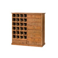 Reclaimed Bleached Pine Wine Cabinet | Zin Home
