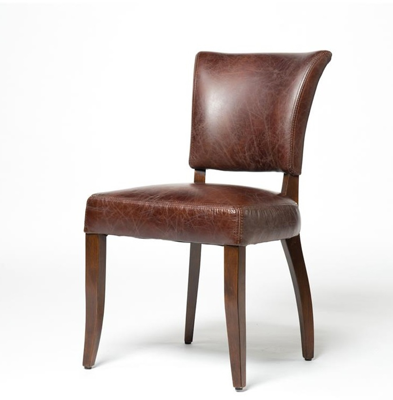 Mimi Biker Tan Leather Dining Chair  Zin Home