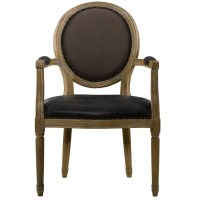 Louis Vintage Leather Dining Arm Chair | Zin Home