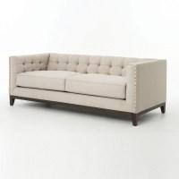 Greenwich Modern Tufted Linen Nailhead Sofa | Zin Home