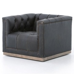 Office Star Eco Leather Chair Nursery Recliner Maxx Distressed Black Swivel Club | Zin Home