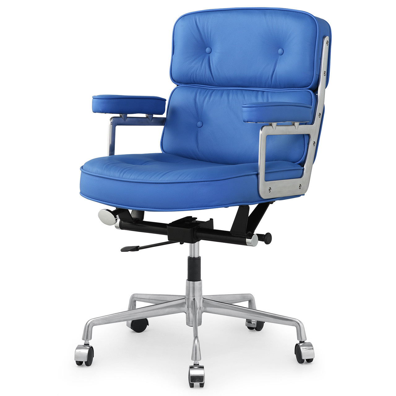 Blue Leather Chair Blue Italian Leather M340 Executive Office Chair Zin Home