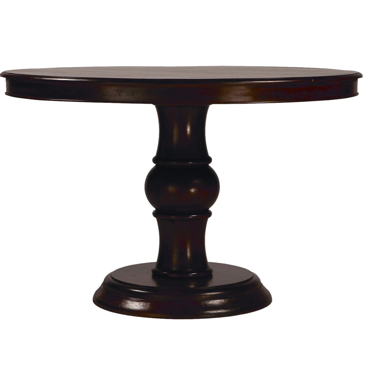 Lauren Dark Wood Round Pedestal Dining Table 47  Zin Home