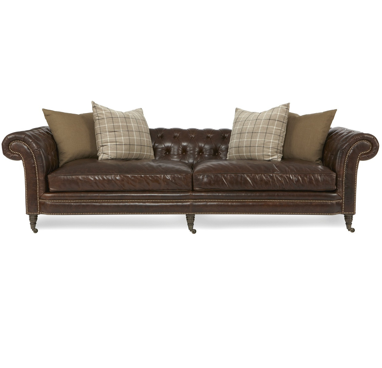 112 lancaster leather sofa american king sleeper lauren cigar club tufted chesterfield
