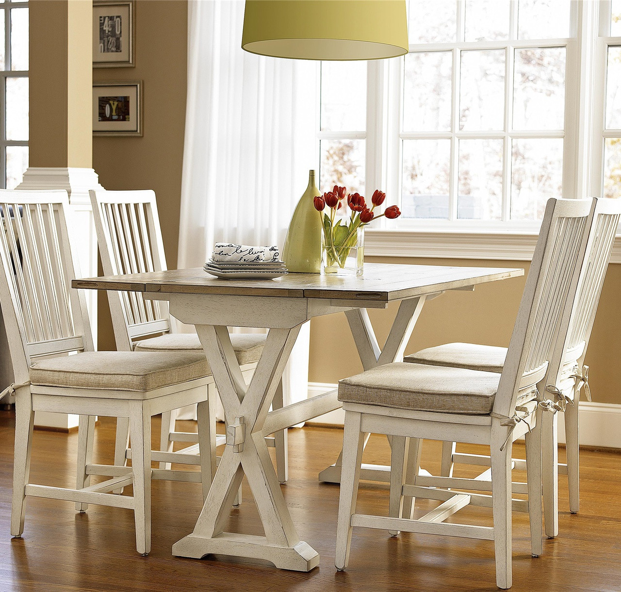 drop leaf white kitchen table towels coastal beach console zin home