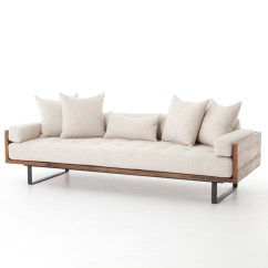 Wooden Sectional Sofa 3 1 Set Covers Ranger Rustic Loft Natural Linen Exposed Wood Zin Home