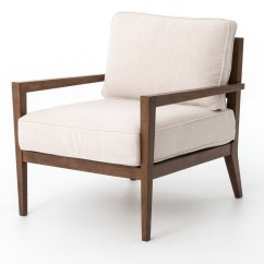 Wood Frame Accent Chairs Cheap Chair Slipcovers Laurent Beige Linen Zin Home