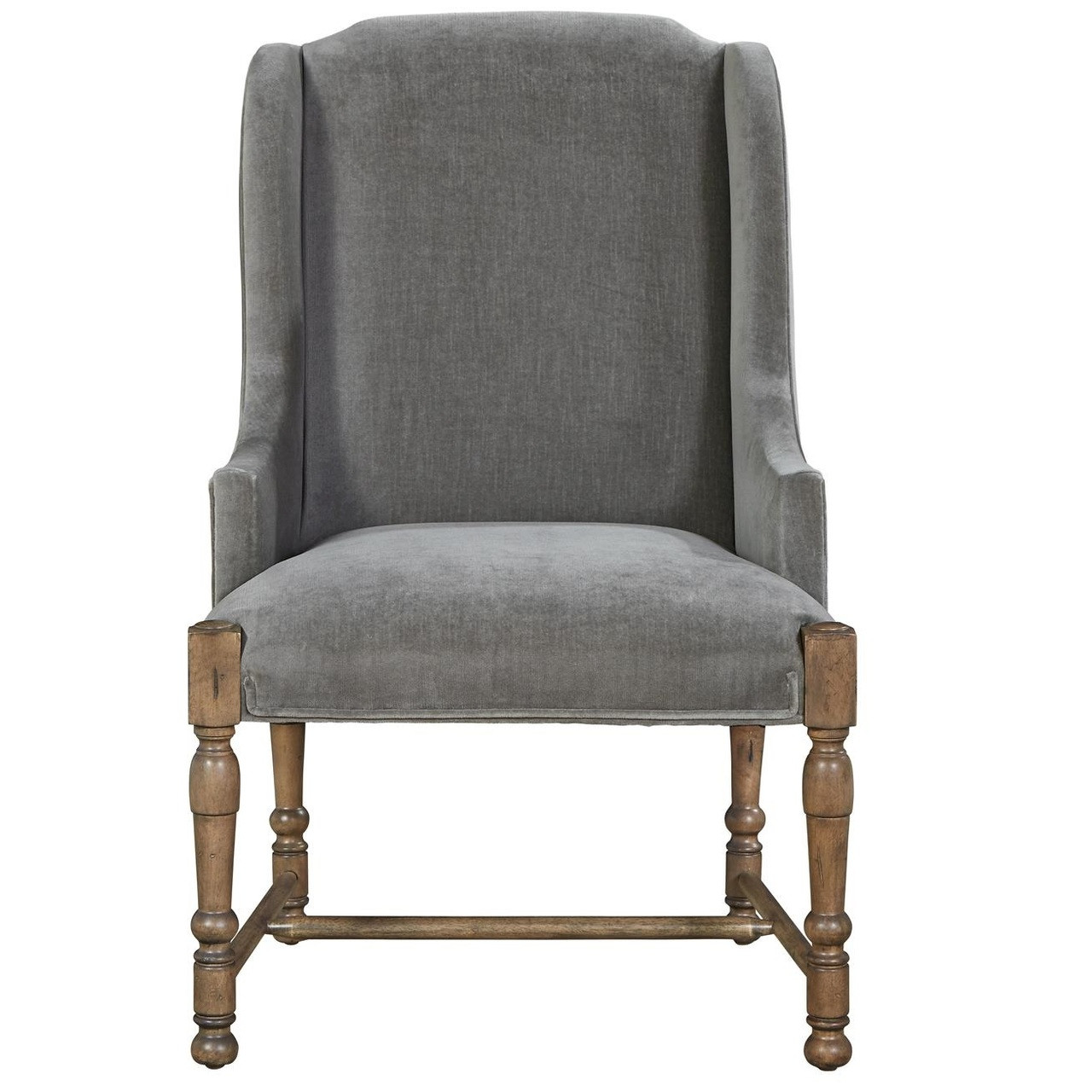french velvet chair design architects country gray upholstered host arm