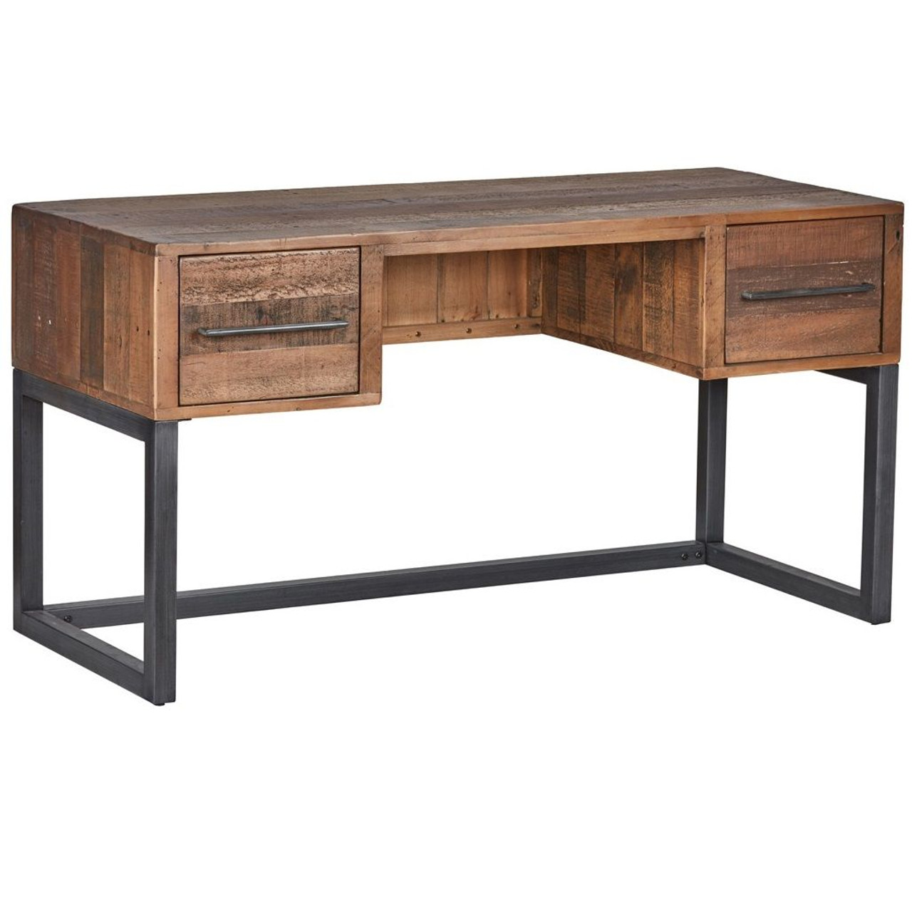 Anderson Rustic Wood and Metal Writing Desk  Zin Home