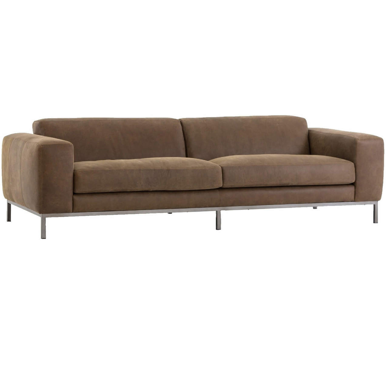 tindall 96 leather sofa thin tables benedict modern top grain quot zin home