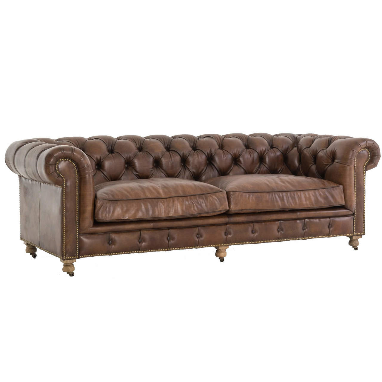 tindall 96 leather sofa throw covers for sectional sofas conrad vintage england coffee chesterfield