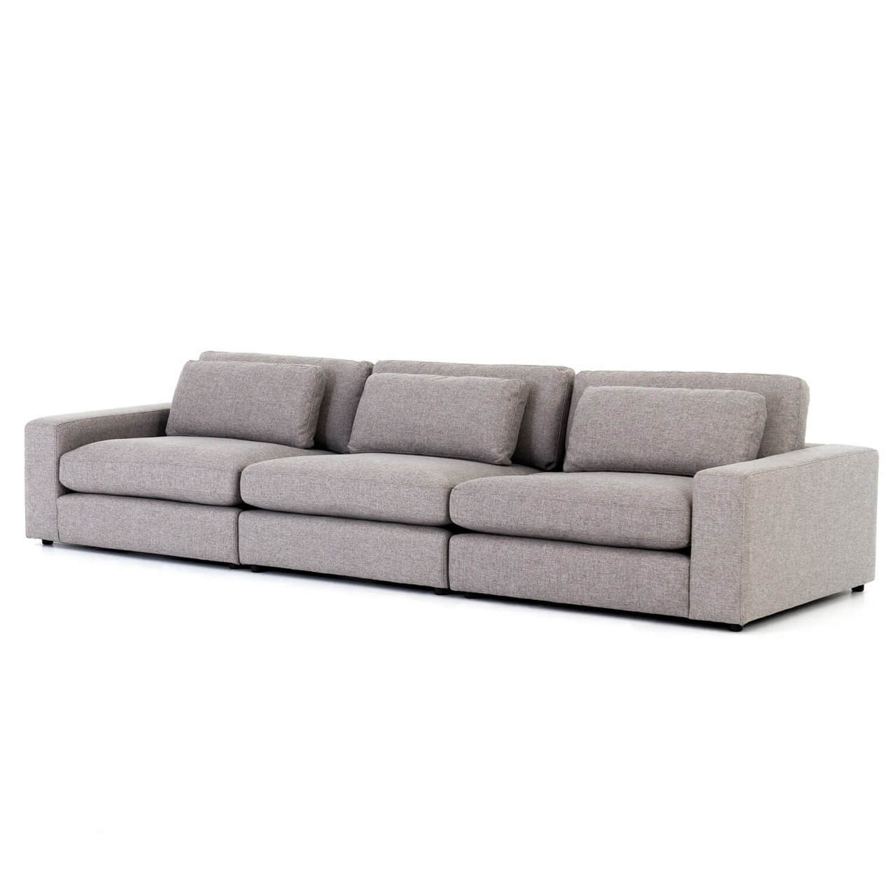 contemporary gray fabric sofa sofas jackson ms bloor 3 seater large 131