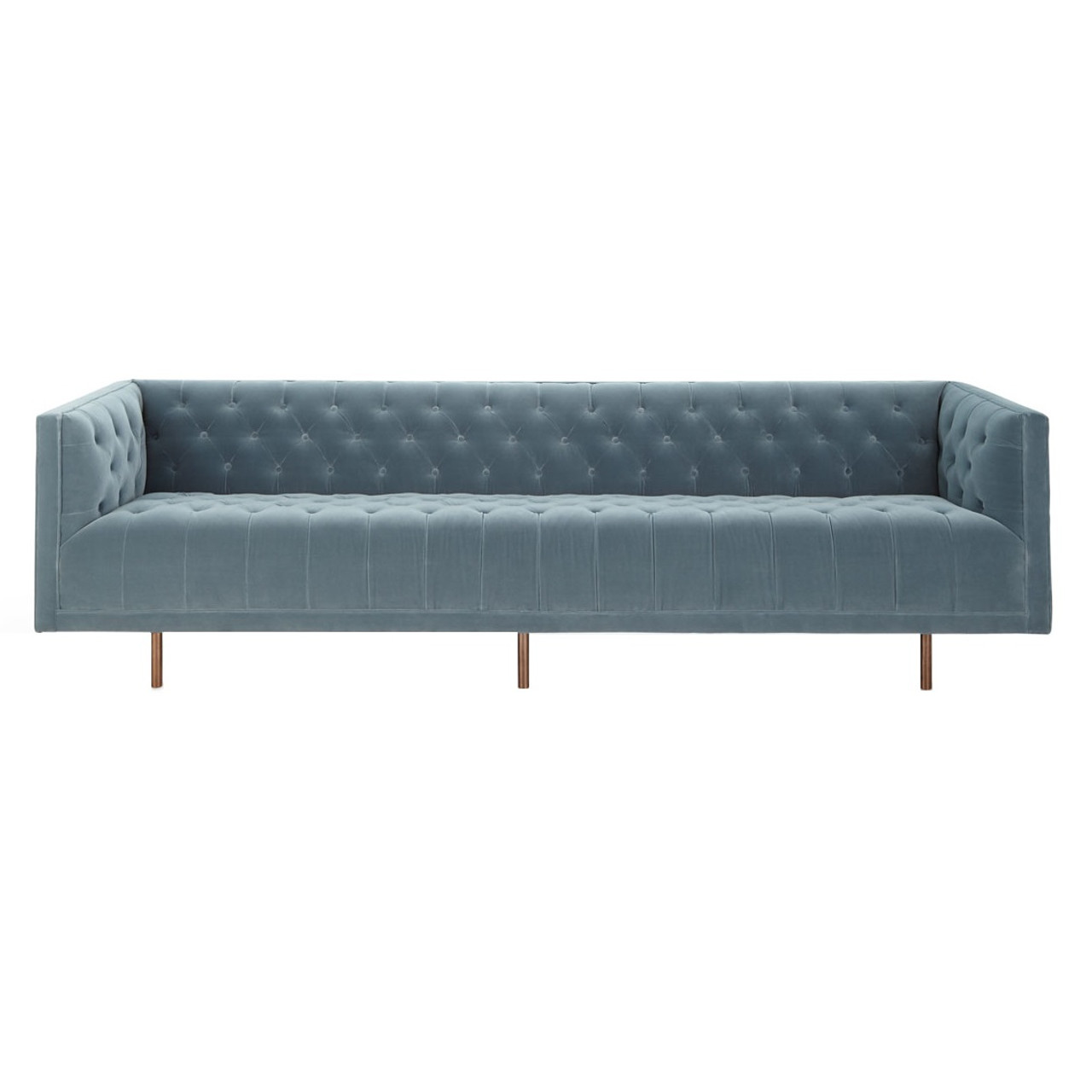 italian shelter arm sofa sofas that turn into bunk beds lynette blue velvet tufted 108 quot zin home