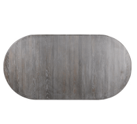 French Vintage Gray OAK Oval Extension Dining Table 72 ...