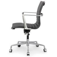 Black Italian Leather M346 Modern Office Chairs   Zin Home