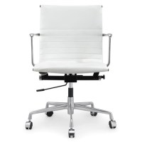 White Italian Leather M346 Modern Office Chairs | Zin Home
