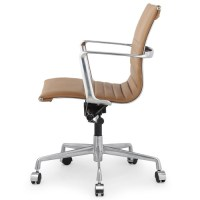 Brown Italian Leather M346 Modern Office Chairs | Zin Home