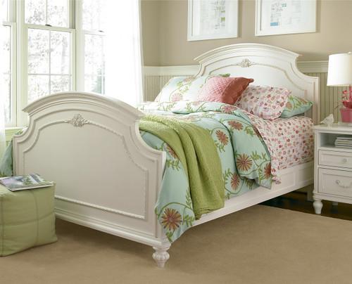 Rosalie Kids Full Size Panel Bed  White  Zin Home