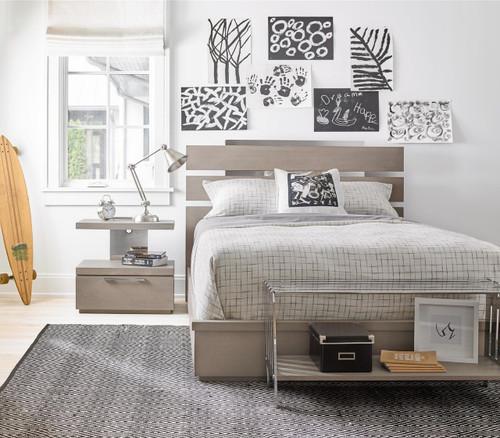 Grayson Modern Kids Full Size Bed Frame  Zin Home