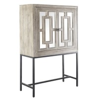 Marciel Gold Mirrored Wine Cabinet | Zin Home