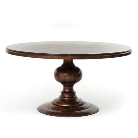 60 Round Pedestal Dining TableCocoa  Round Kitchen