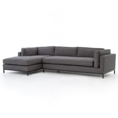 Gus Modern Sofa Sale Red Bonded Leather Set Grammercy Upholstered 2 Piece Sectional ...