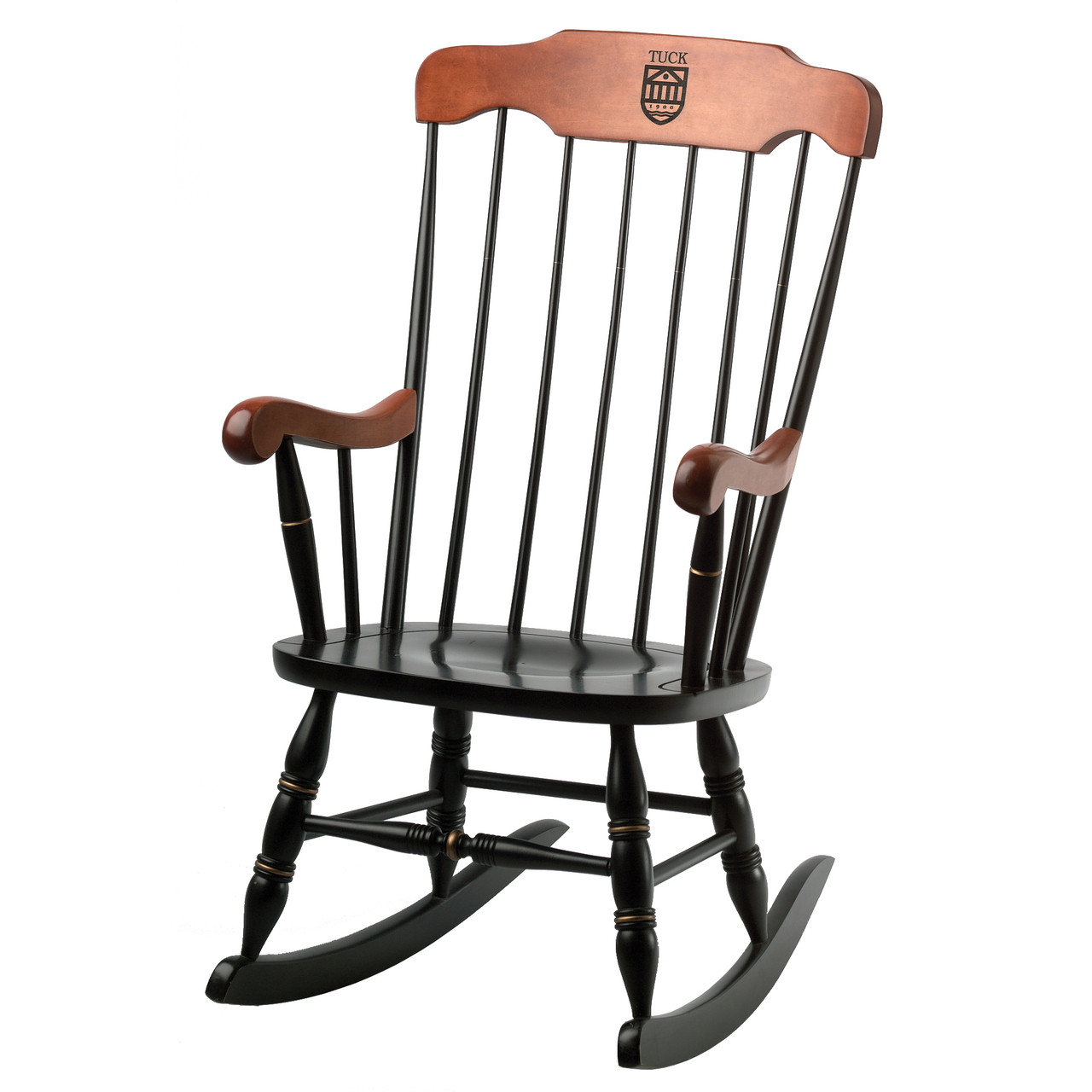 engraved rocking chair dining room chairs at target dartmouth wooden solid hardwood rocker with d
