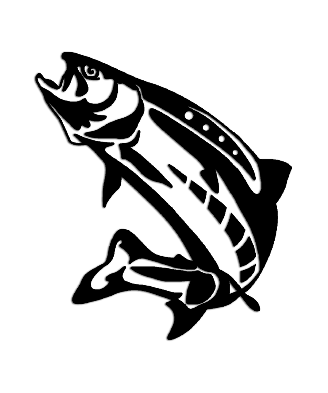 Clipart Black And White Trout 1