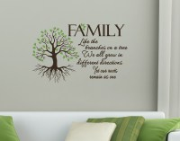 Family Quote, Like Branches on a Tree, Wall Art Vinyl Decal