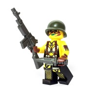 Custom LEGO Minifigure - Female US Soldier
