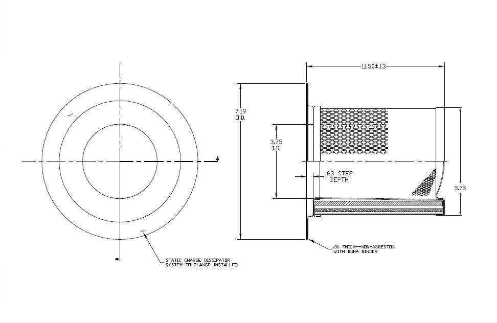 36845303 Ingersoll Rand Air-Oil Separator, OEM Equal