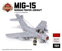 MiG-15 - Russian Fighter Aircraft - Brickmania Toys